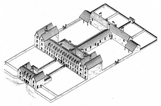 typical Irish workhouse in mid-nineteenth century