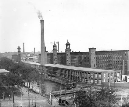 The Pacific Mills in Lawrence, Massachusetts seen here in 1890