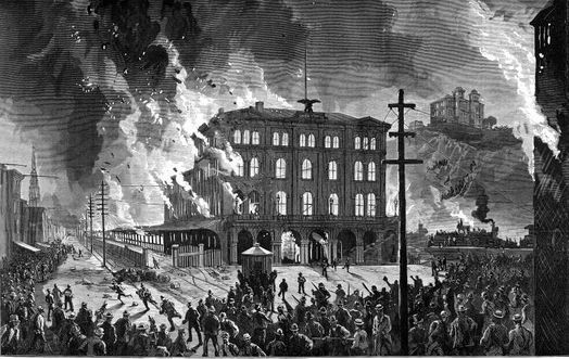 Union Station Burning, 1877